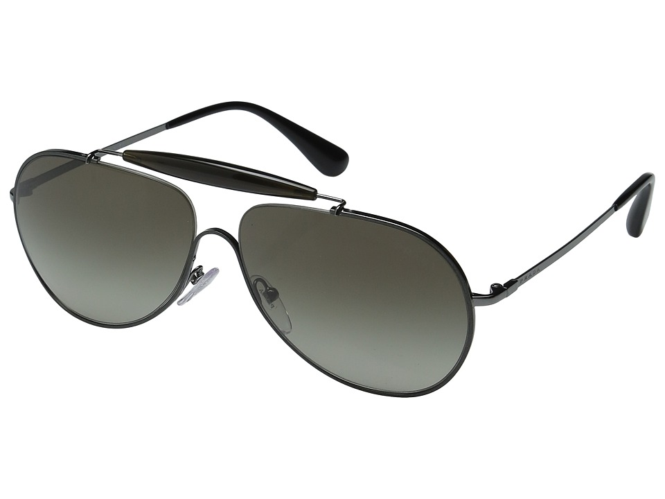 Prada - 0PR 56SS (Top Yellow/Silver/Dark Blue) Fashion Sunglasses