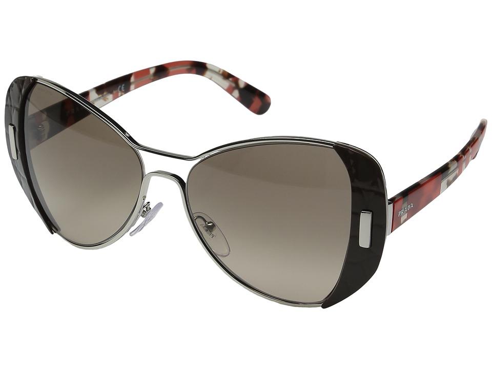 Prada - 0PR 60SS (Silver Brown/Brown Gradient) Fashion Sunglasses