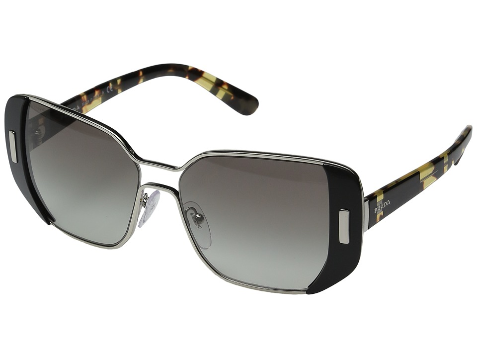Prada - 0PR 59SS (Silver/Black/Grey Gradient) Fashion Sunglasses