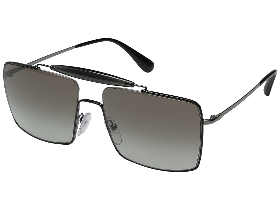 Prada - 0PR 57SS (Top Black/Gunmetal/Grey Gradient) Fashion Sunglasses