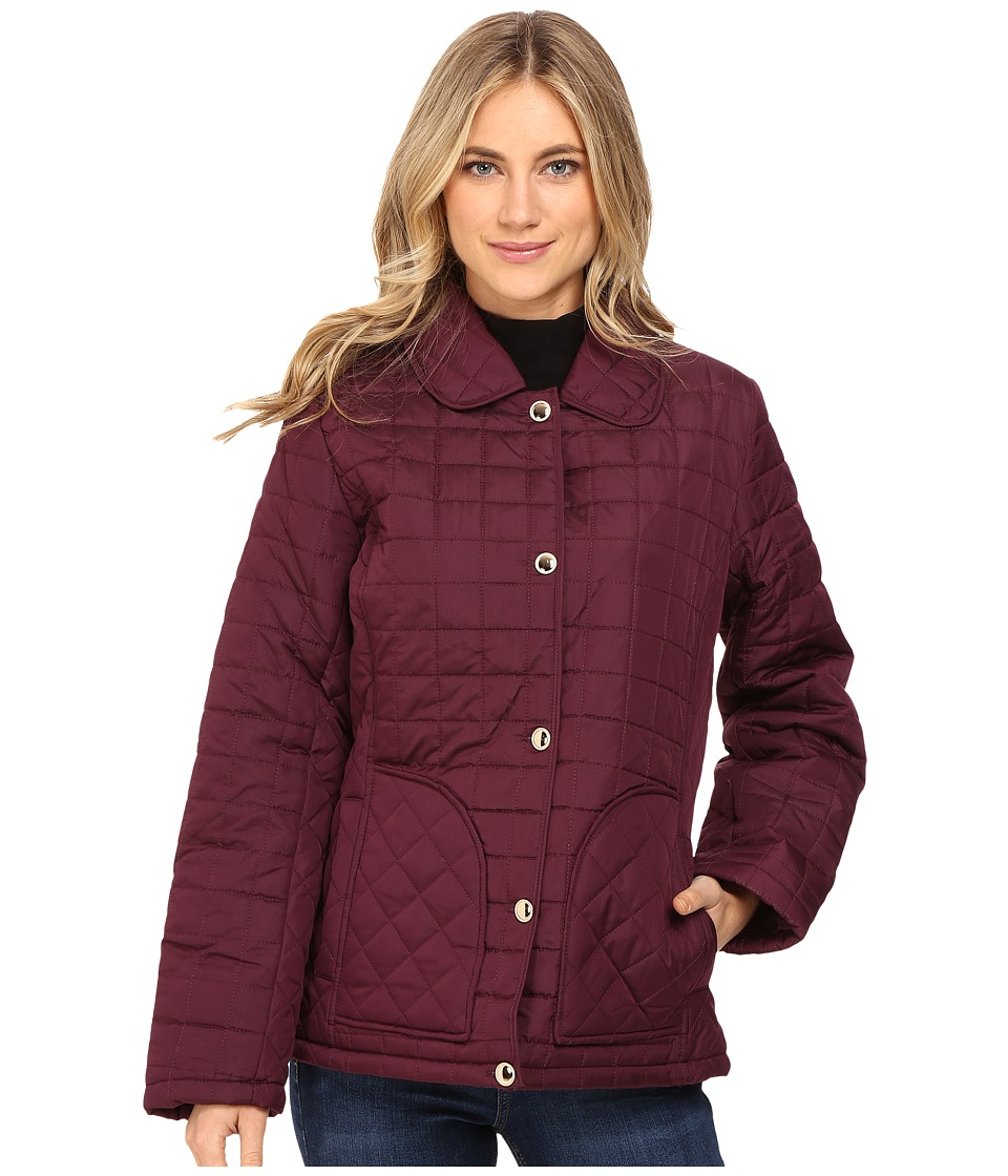 KC Collections - Box Quilted Barn Jacket (Mulber) Women's Coat