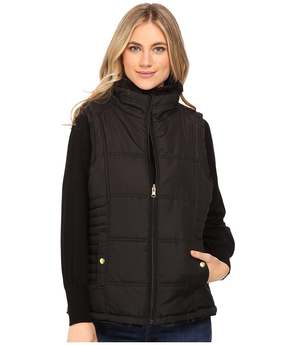 KC Collections - Faux Fur Vest (Black) Women's Vest