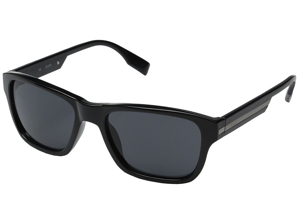 GUESS - GU6802 (Black/Solid Smoke) Fashion Sunglasses