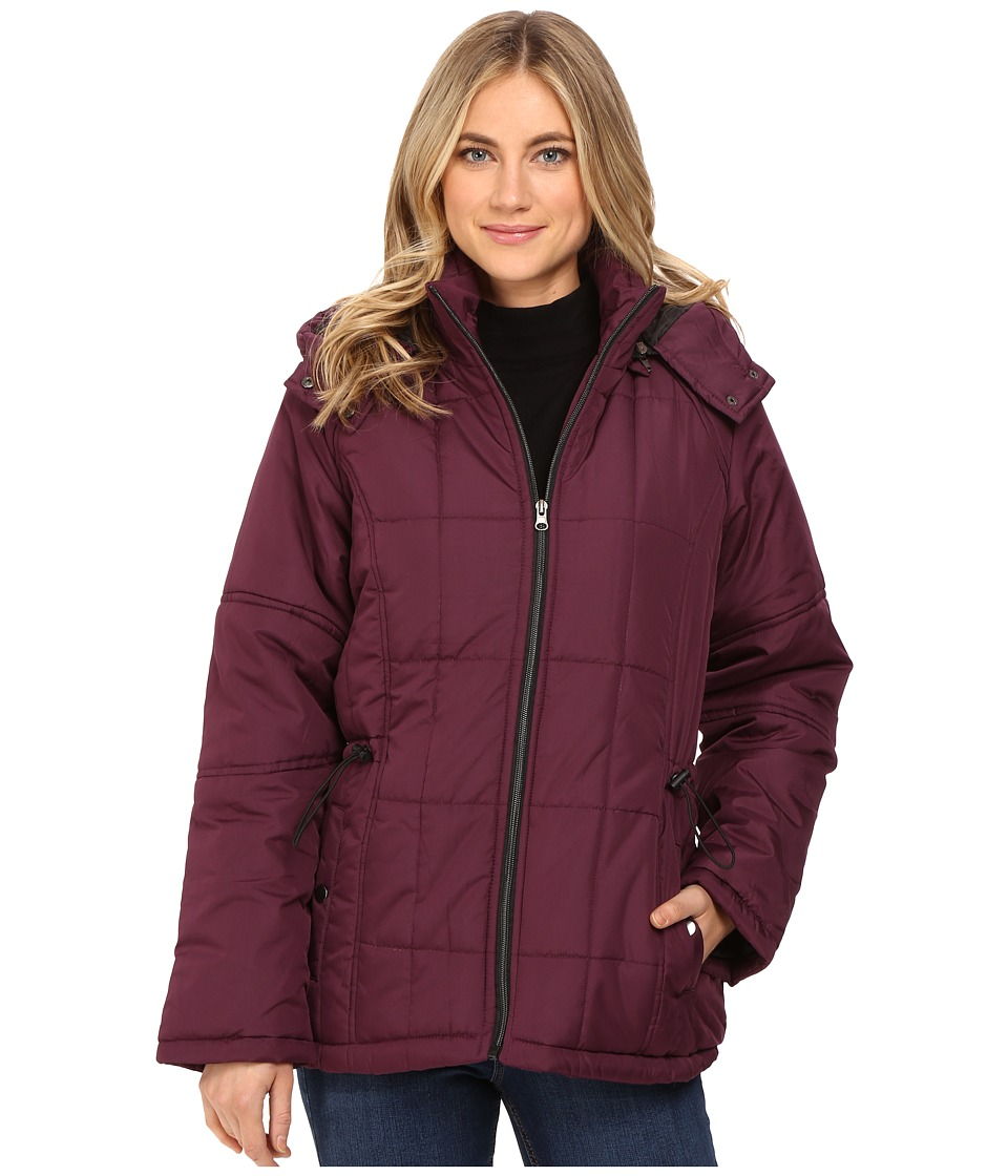 KC Collections - Hooded Puffer (Mulber) Women's Coat