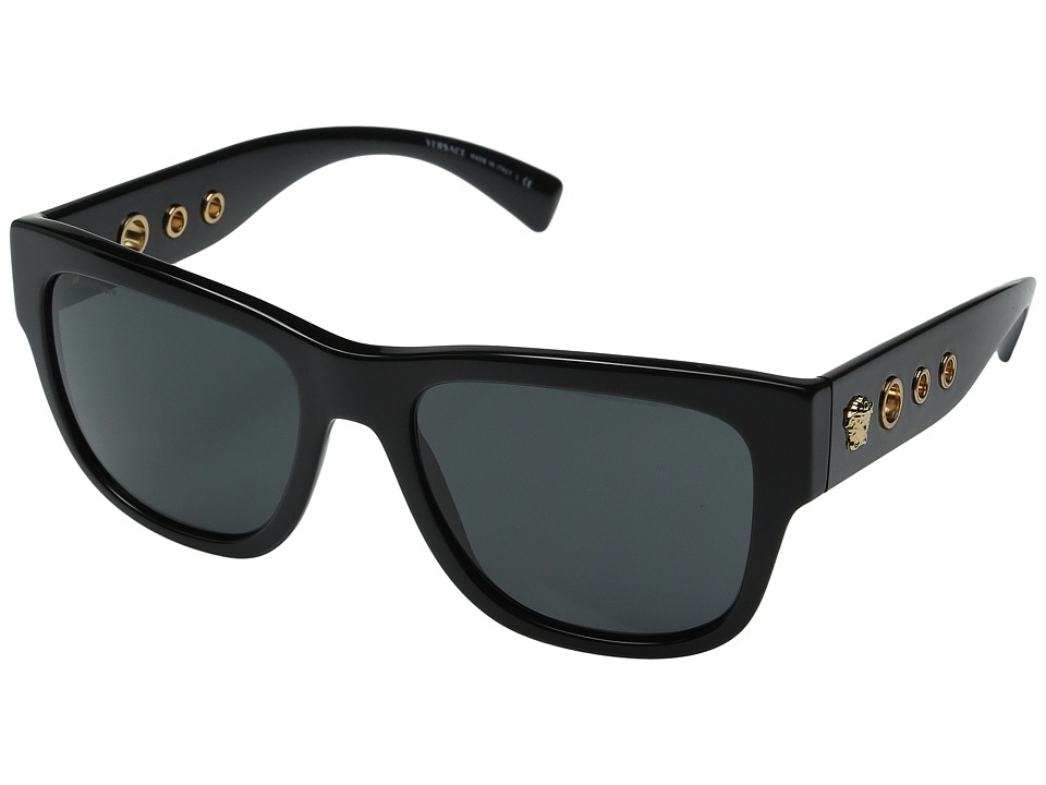 Versace - VE4319 (Black/Dark Grey) Fashion Sunglasses