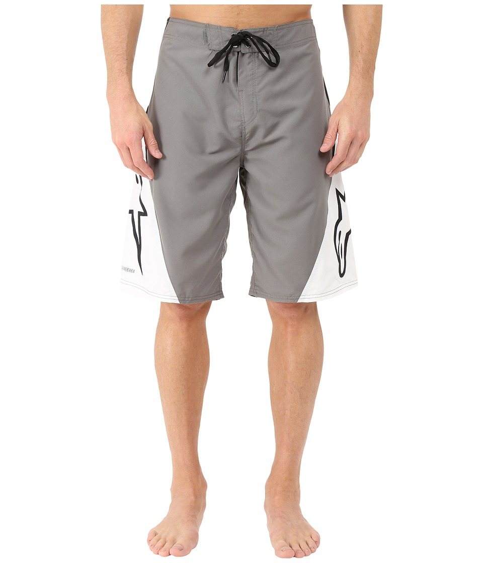 Alpinestars - The Arrival Boardshort (Charcoal/White) Men's Swimwear