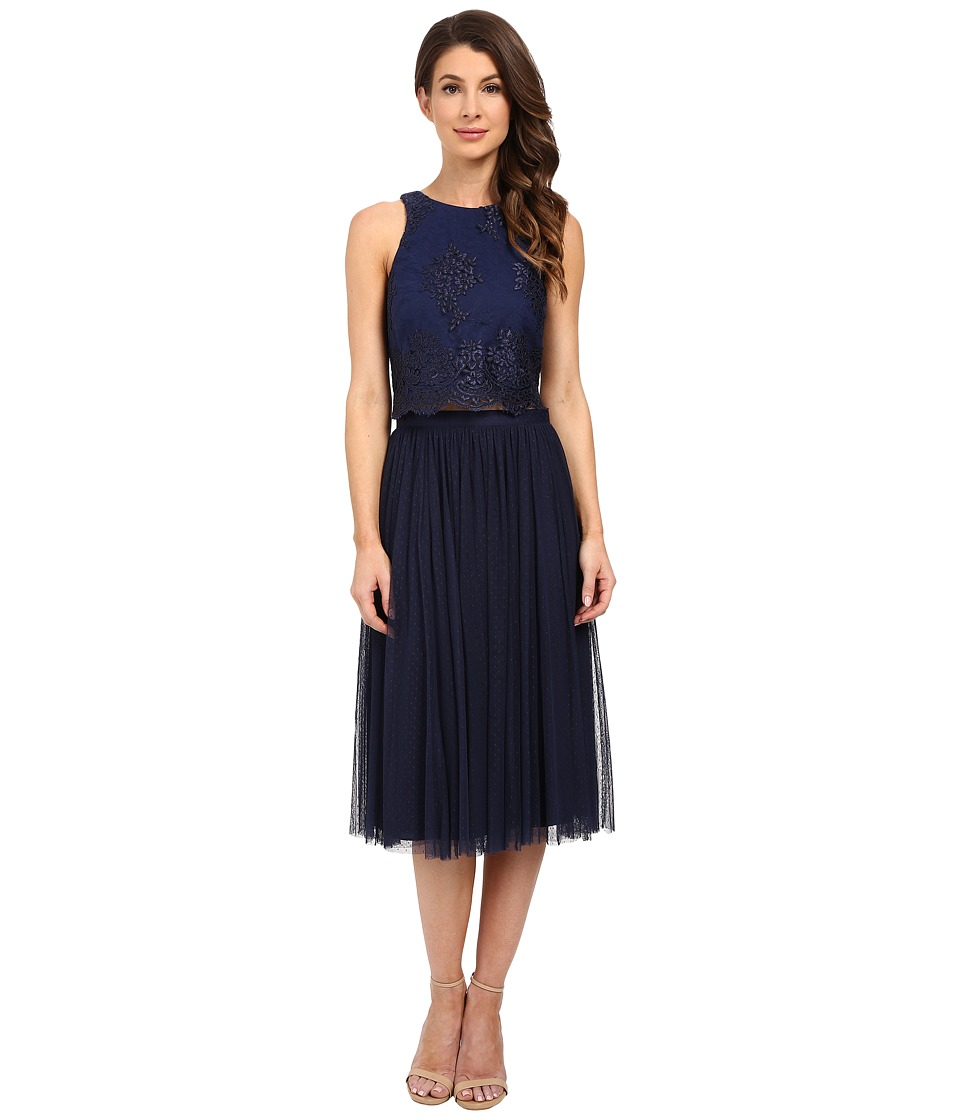 Donna Morgan - Beatrix Lace Bodice w/ Skirt (Midnight) Women's Dress