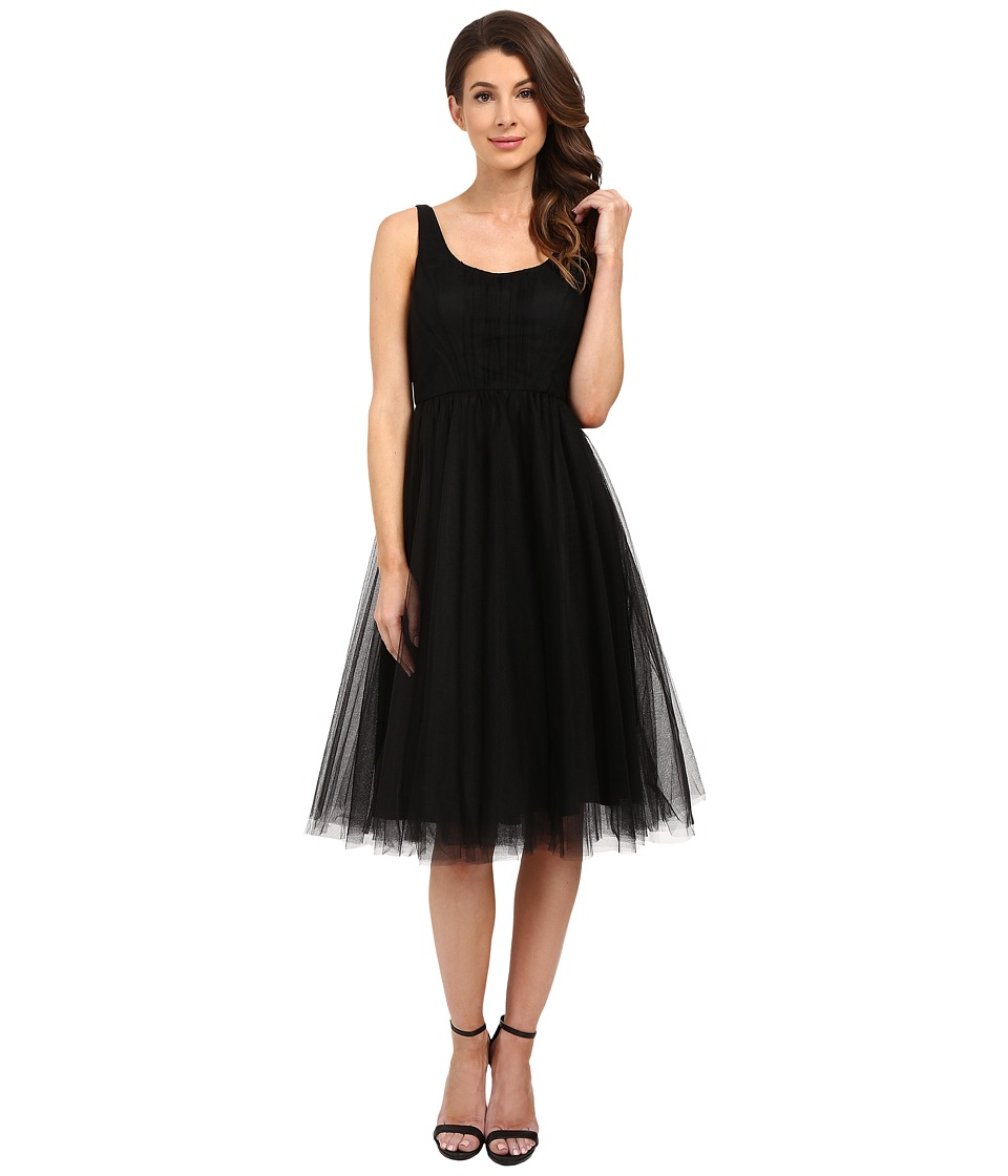 Donna Morgan - Chantal Scoop Neck Tulle Dress (Black) Women's Dress