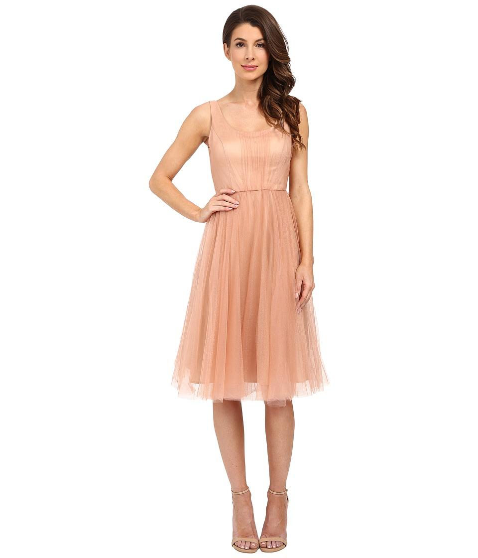 Donna Morgan - Chantal Scoop Neck Tulle Dress (Feather) Women's Dress