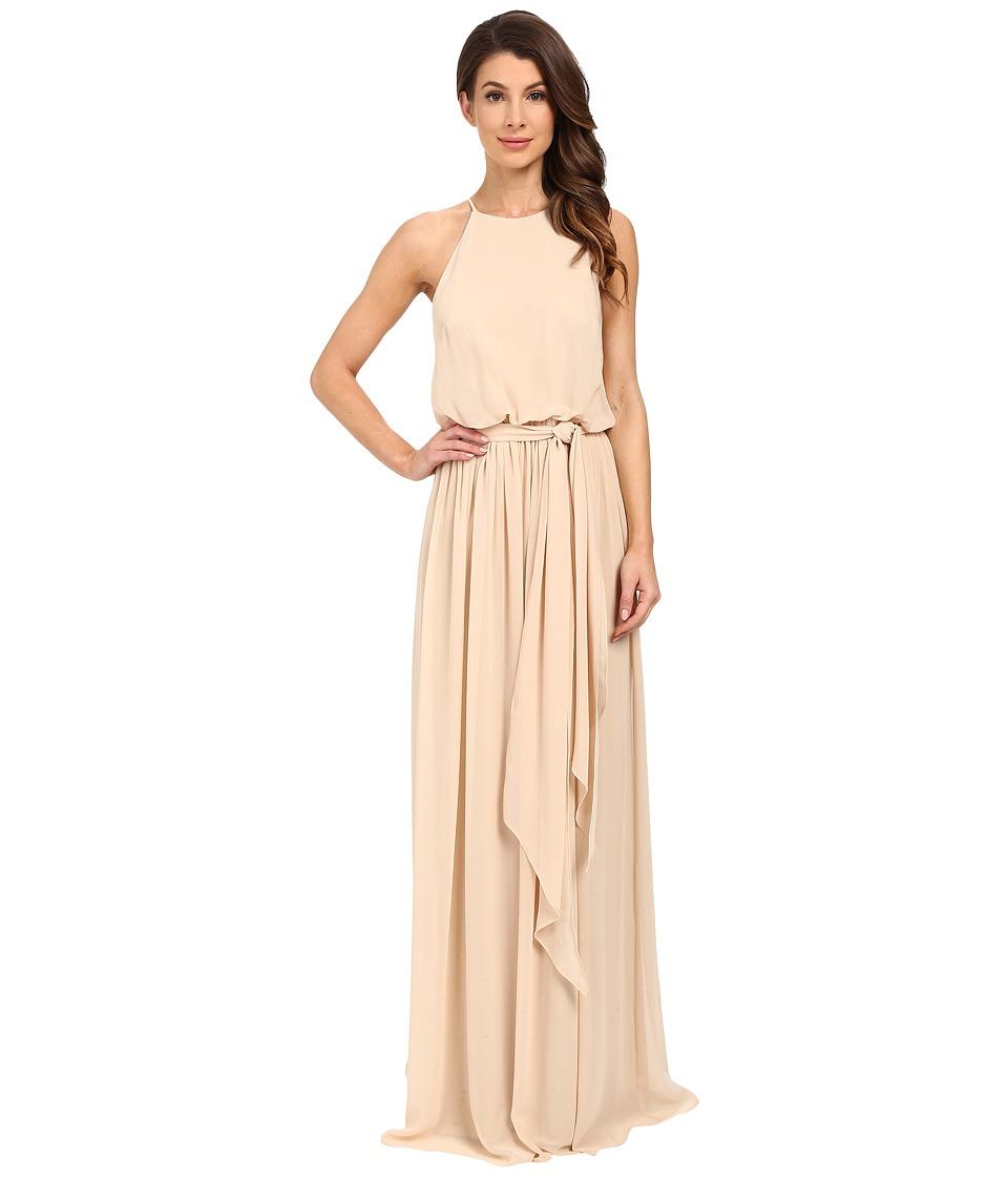 Donna Morgan - Alana Drape Blouson Gown (Champagne) Women's Dress
