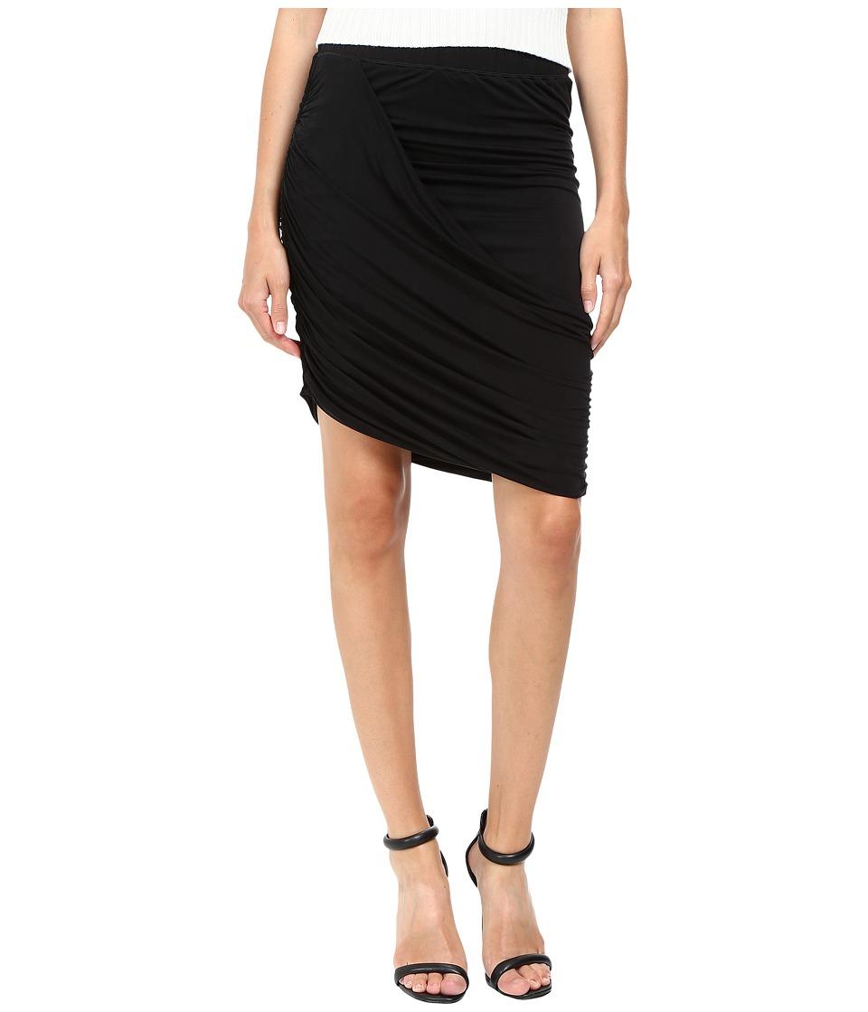 The Kooples - Asymmetric Skirt (Black) Women's Skirt