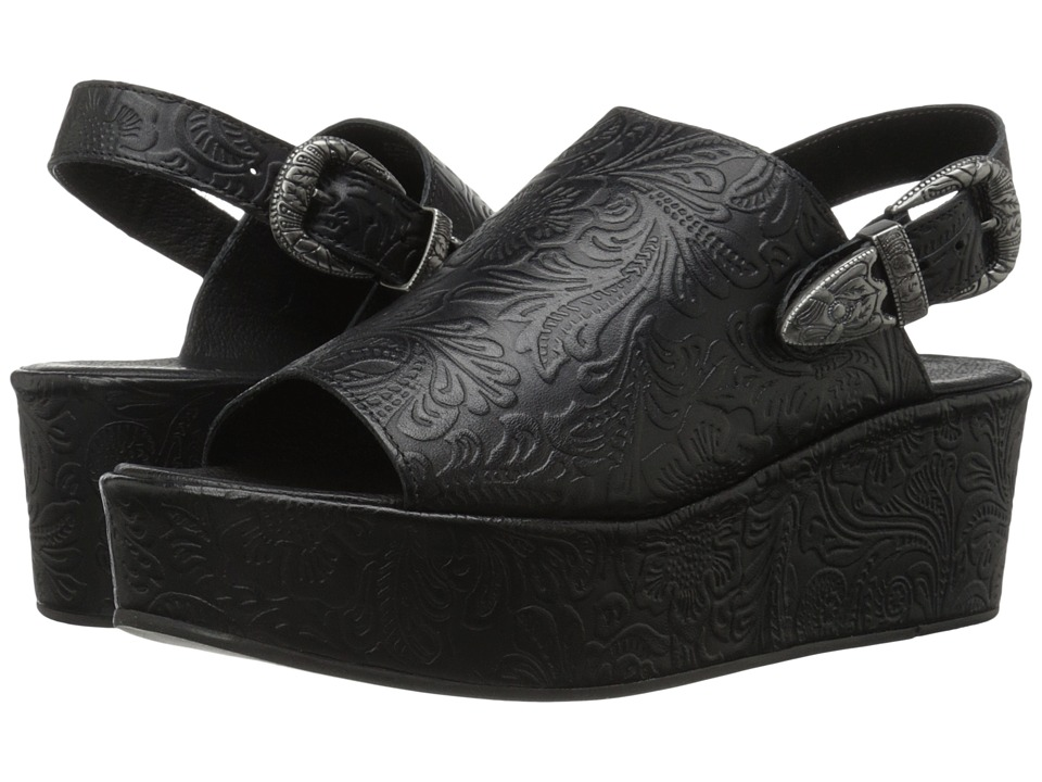 Matisse - Bonaroo (Black Leather) Women's Wedge Shoes
