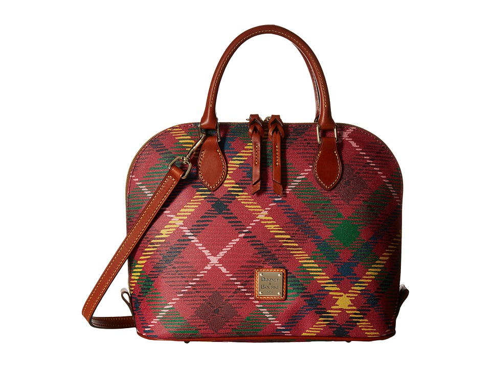 Dooney & Bourke - Durham Zip Zip Satchel (Wine) Satchel Handbags