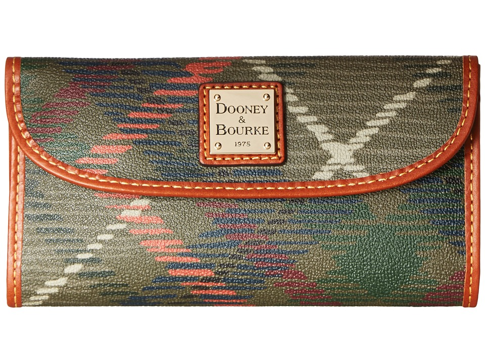 Dooney & Bourke - Durham Continental Clutch (Olive) Clutch Handbags