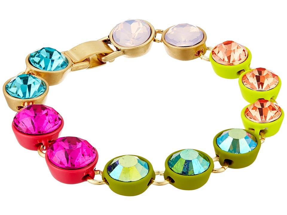 Betsey Johnson - Calypso Multi Stone Flex Bracelet (Multi) Bracelet
