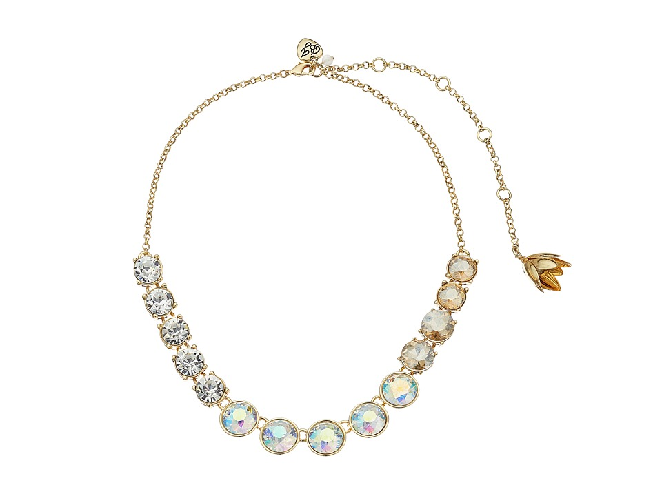 Betsey Johnson - Dream of Betsey Multi Stone Necklace (White) Necklace