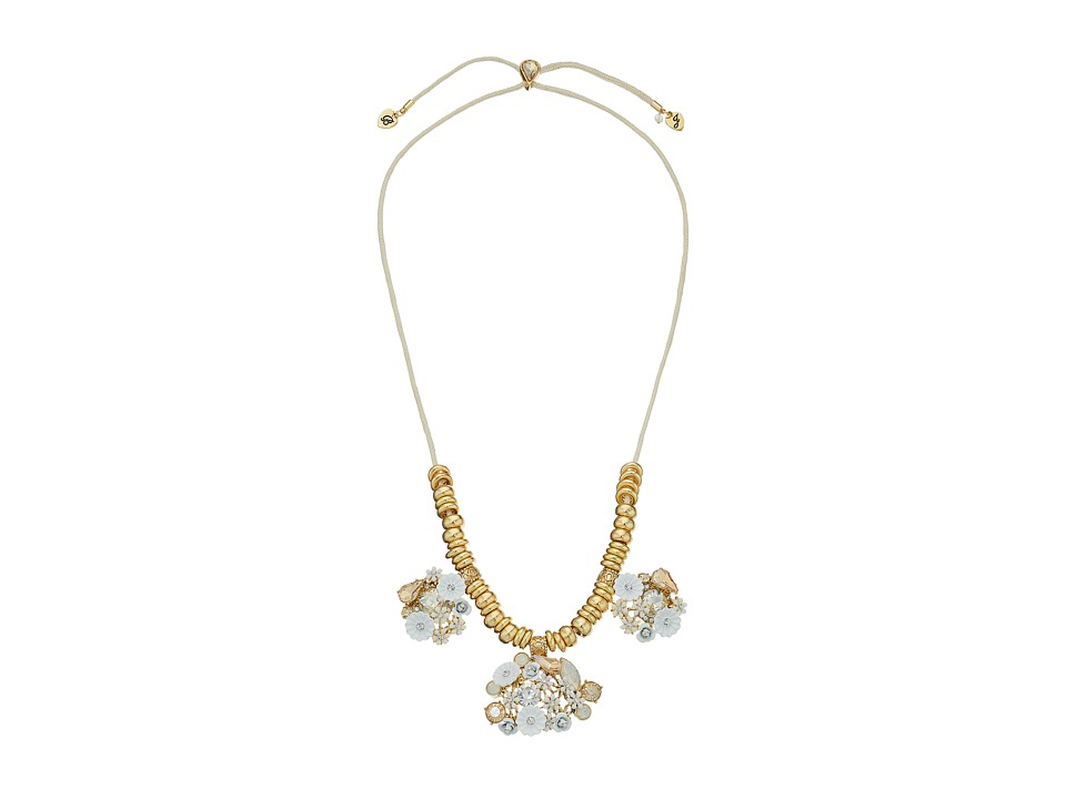 Betsey Johnson - Dream of Betsey Floral Cluster Necklace (White) Necklace