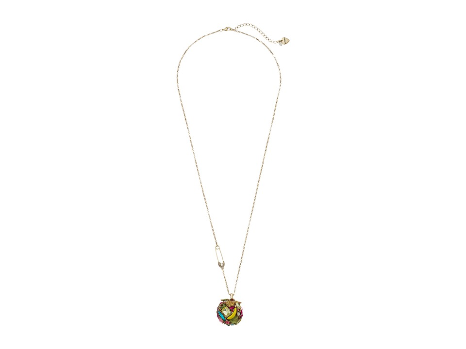 Betsey Johnson - Calypso Long Ball Pendant Necklace (Multi) Necklace