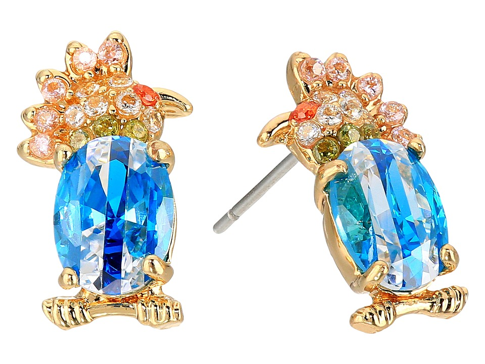 Betsey Johnson - Calypso Bird Stud Earrings (Aqua) Earring