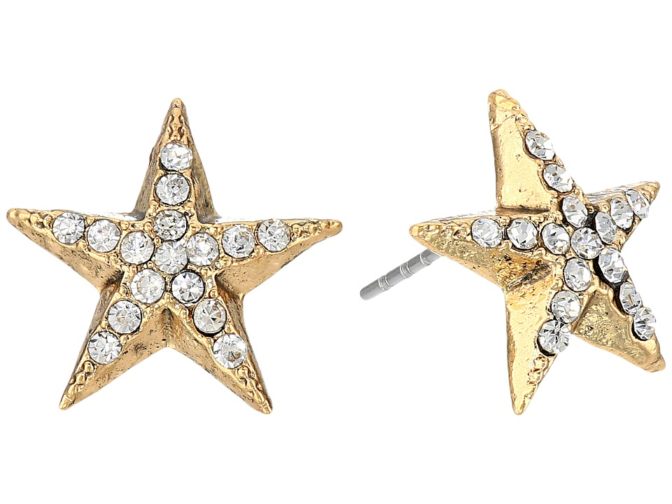 Betsey Johnson - Americana Crystal Star Stud Earrings (Crystal) Earring