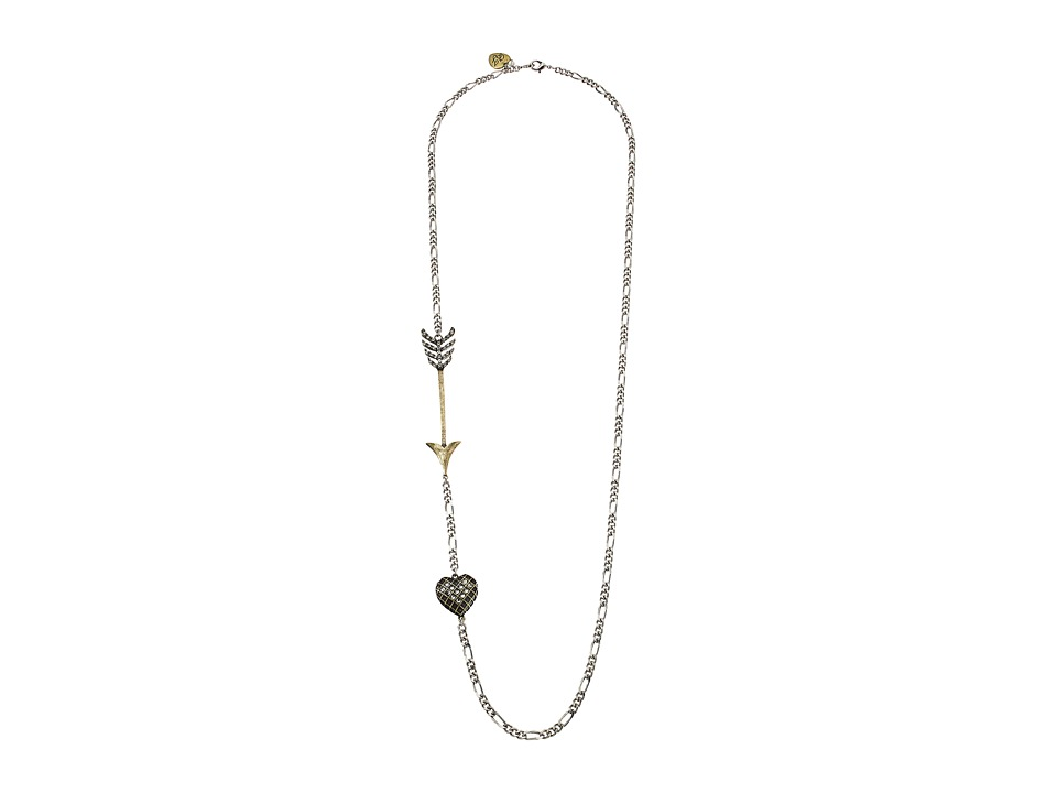 Betsey Johnson - Throwback Betsey Arrow Long Necklace (Crystal) Necklace
