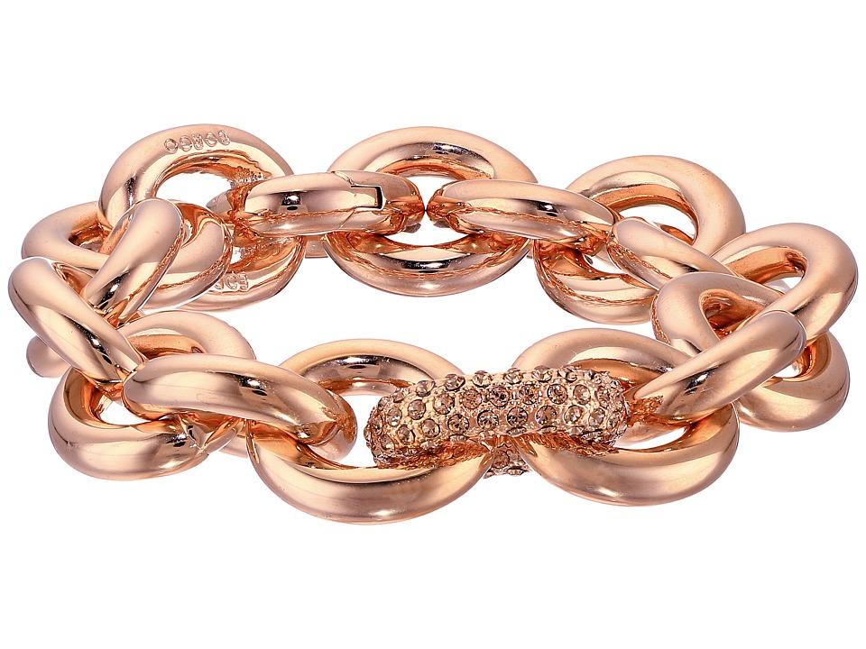 Eddie Borgo - One Pav Link Chain Bracelet (Shiny Plated Brass/Pav Crystal) Bracelet