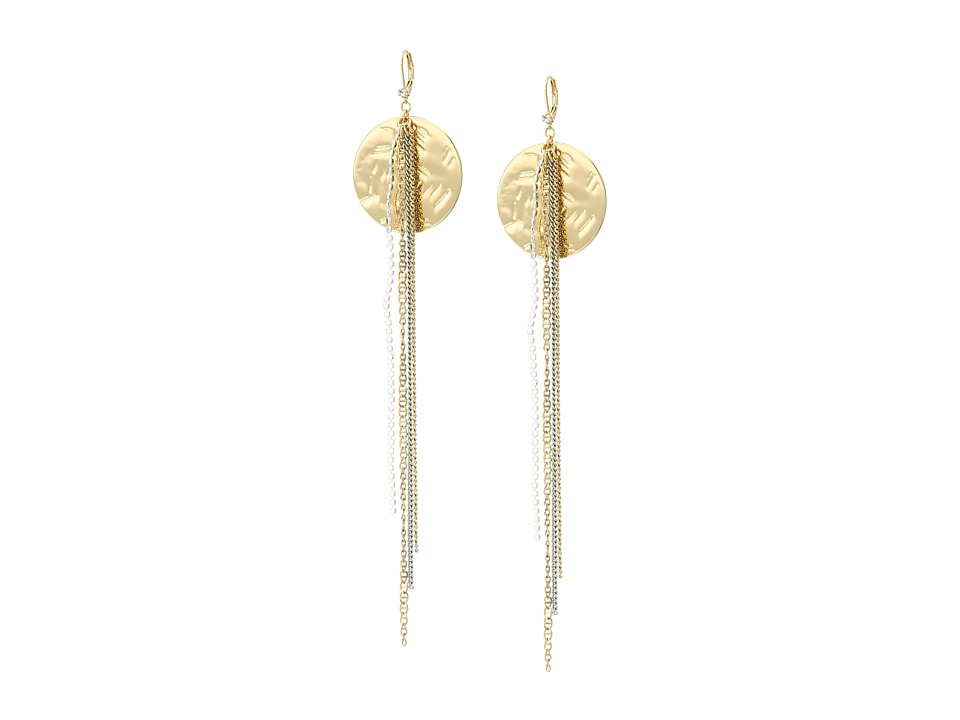 Betsey Johnson - Throwback Betsey Disc Linear Earrings (Gold) Earring