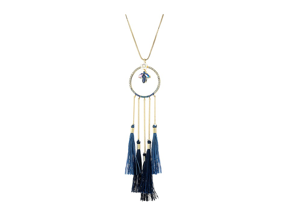 Betsey Johnson - Blue Dream Catcher Pendant Necklace (Blue Multi) Necklace