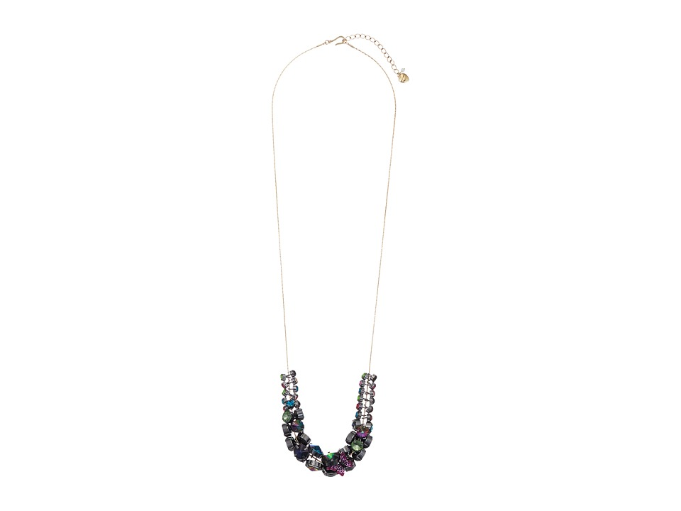 Betsey Johnson - Butterfly Cluster Long Necklace (Multi) Necklace