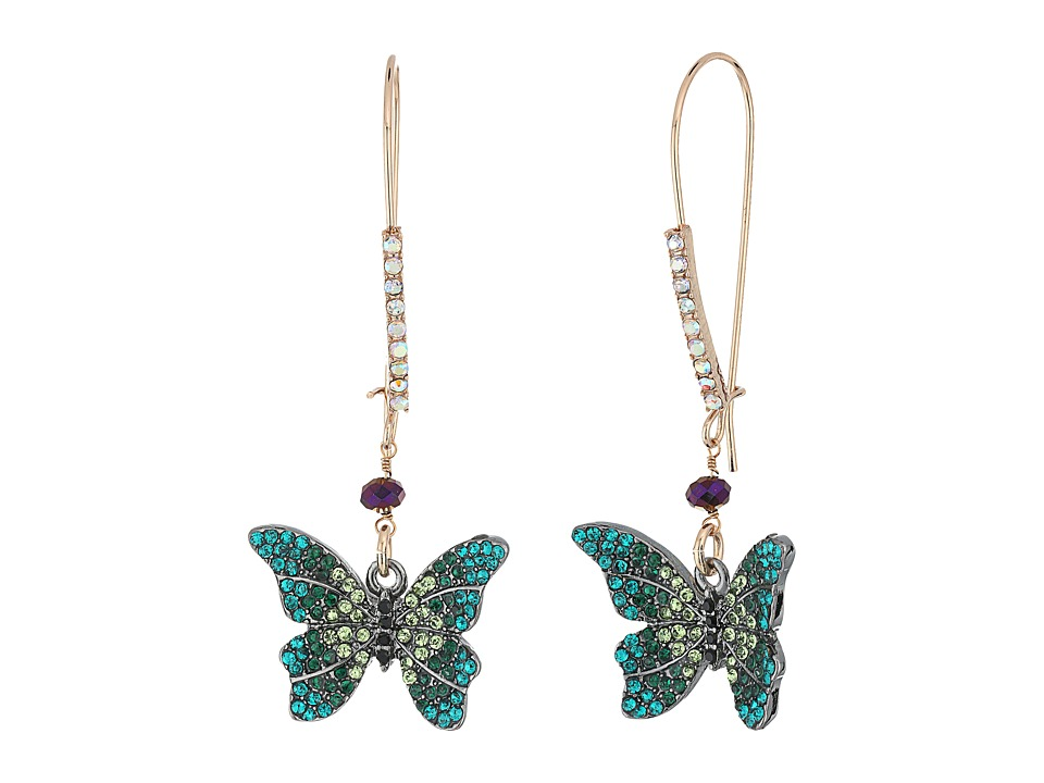 Betsey Johnson - Butterfly Shepherd Hook Earrings (Multi) Earring