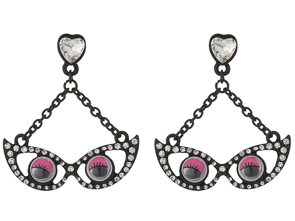 Betsey Johnson - Googly Eyes Glasses Earrings (Pink) Earring