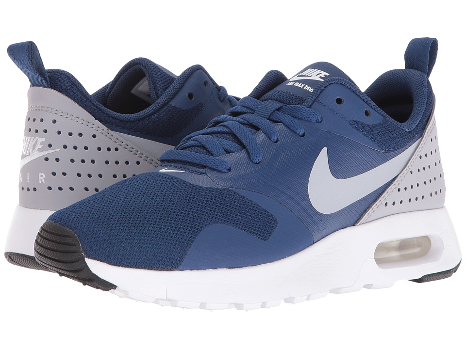 Nike Kids - Air Max Tavas GS (Big Kid) (Coastal Blue/White/Black/Wolf Grey) Boys Shoes