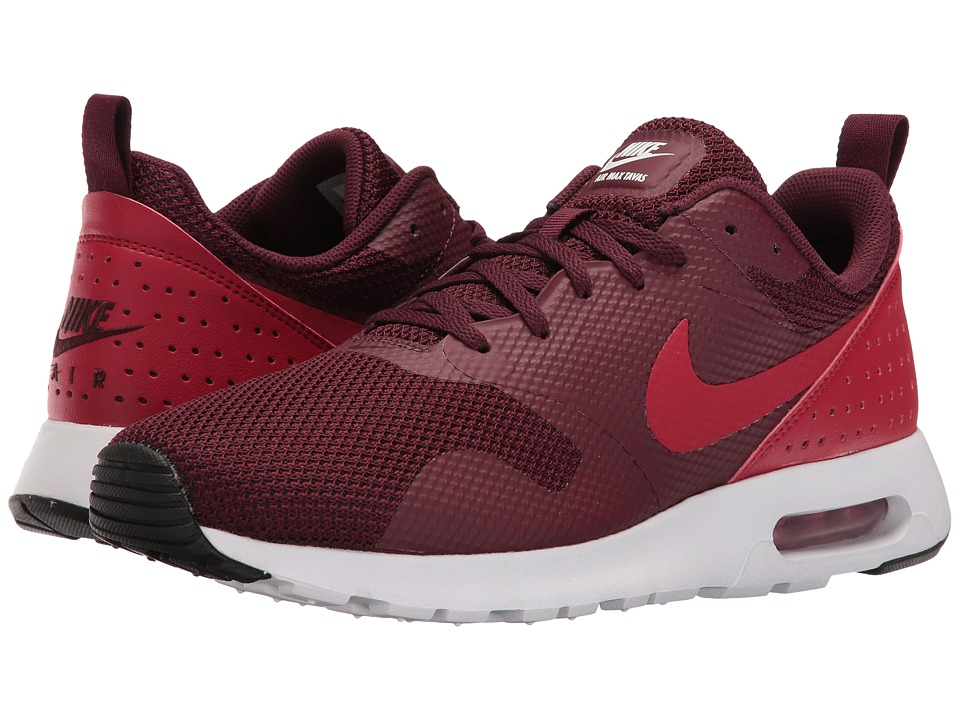 Nike - Air Max Tavas (Night Maroon/Black/White/Gym Red) Men's Shoes
