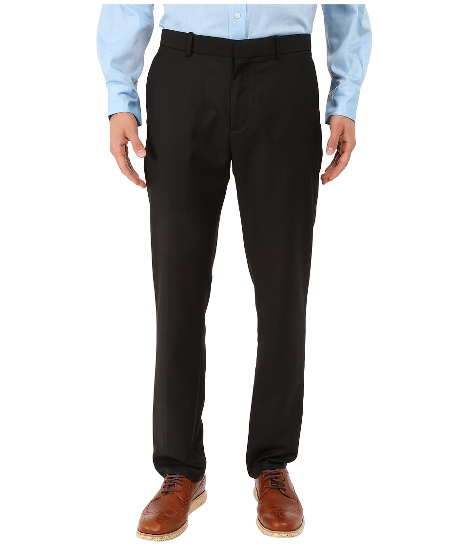 Perry Ellis - Slim Fit Stripe Twill Suit Pant (Black) Men's Casual Pants