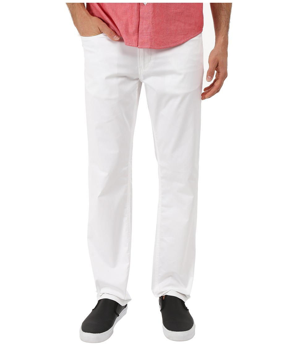 Perry Ellis - Slim Fit Solid Sateen Five-Pocket Pants (Bright White) Men's Casual Pants