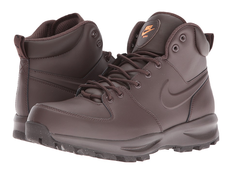 Nike - Manoa Leather (Baroque Brown/Total Orange/Baroque Brown) Men's Lace-up Boots