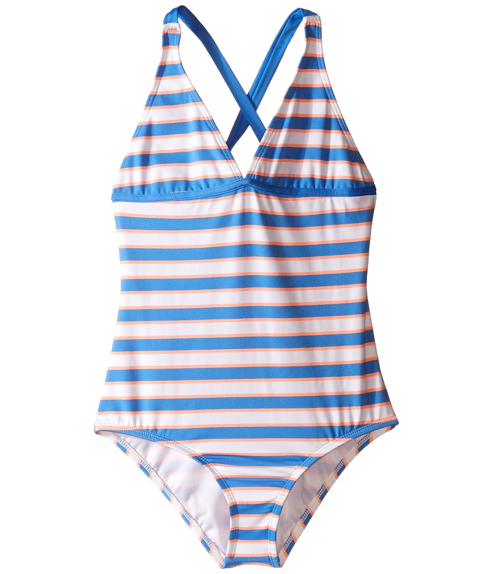 Splendid Littles - Cayman Stripe One-Piece (Big Kid) (Multicolor) Girl's Swimsuits One Piece