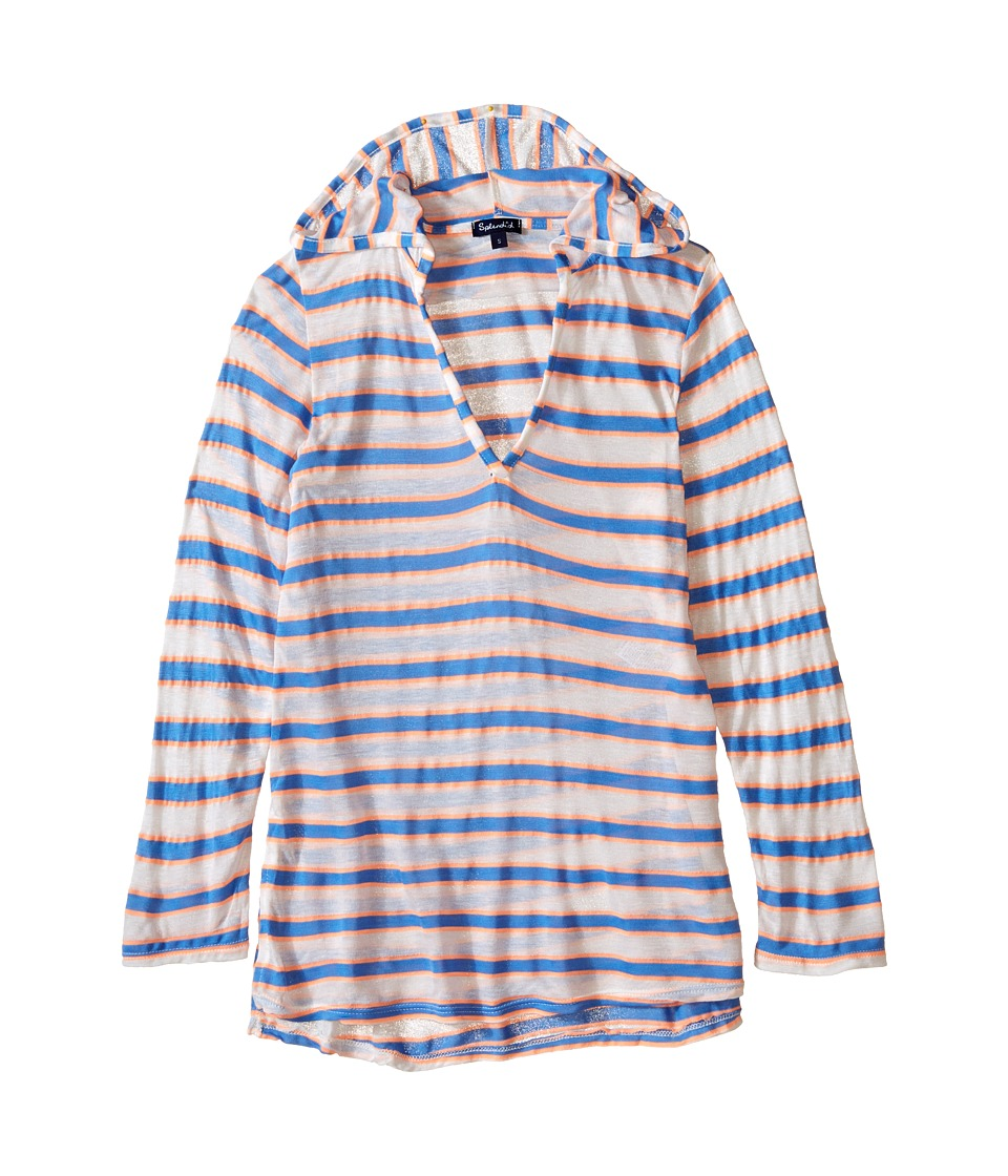 Splendid Littles - Cayman Stripe Hoodie Tunic Cover-Up (Big Kid) (Multicolor) Girl's Swimwear
