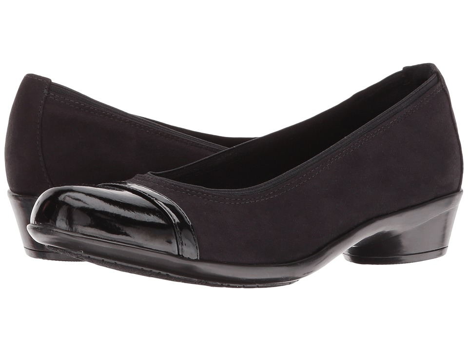 Rockport Cobb Hill Collection Cobb Hill Venera Vaniya (Black Micro Suede) Women
