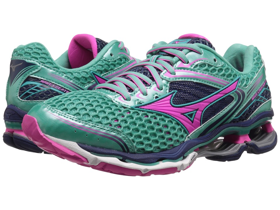 Mizuno - Wave Creation 17 (Waterfall/Electric) Women's Shoes