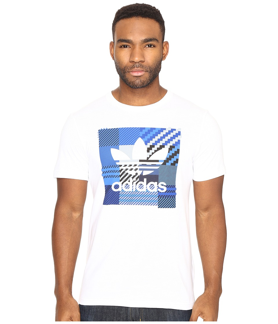 adidas Originals - Impossible Check Tee (White) Men's T Shirt