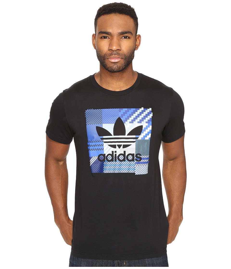 adidas Originals - Impossible Check Tee (Black) Men's T Shirt