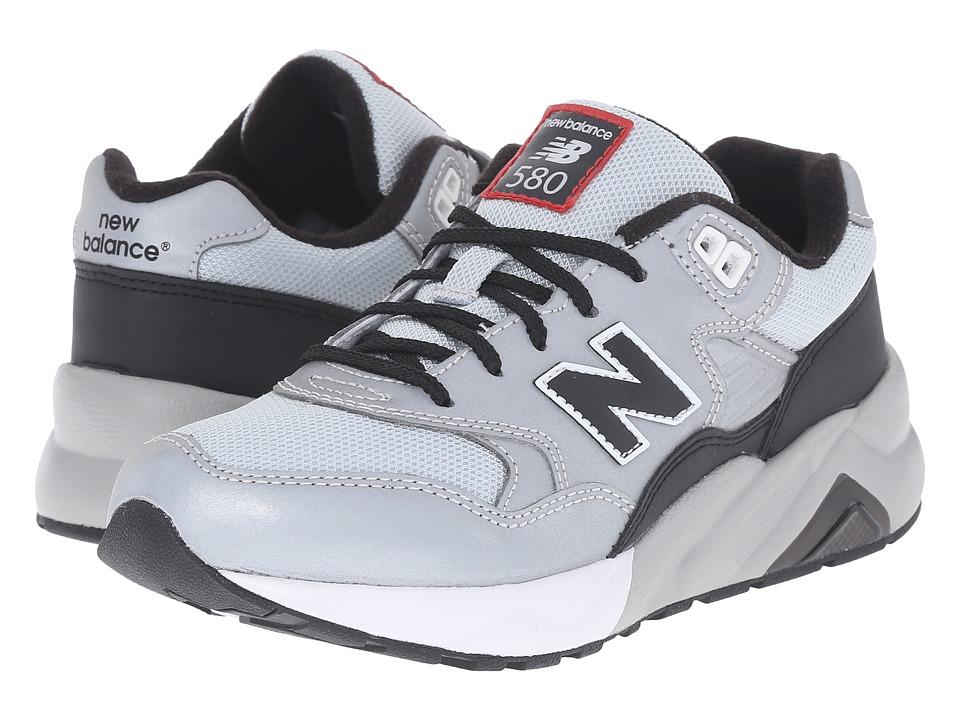 New Balance Kids - KL580RFG (Big Kid) (Silver/Black) Boys Shoes