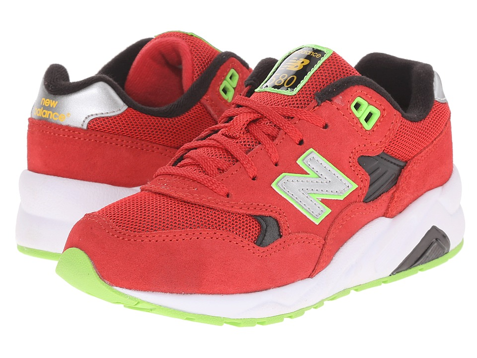New Balance Kids - KL580RGP (Little Kid) (Red/Green) Boys Shoes