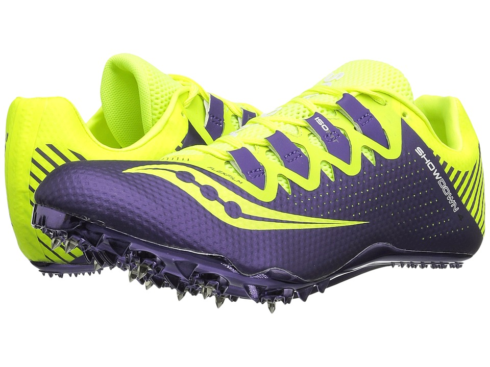 Saucony - Showdown 4 (Citron/Purple) Women's Shoes