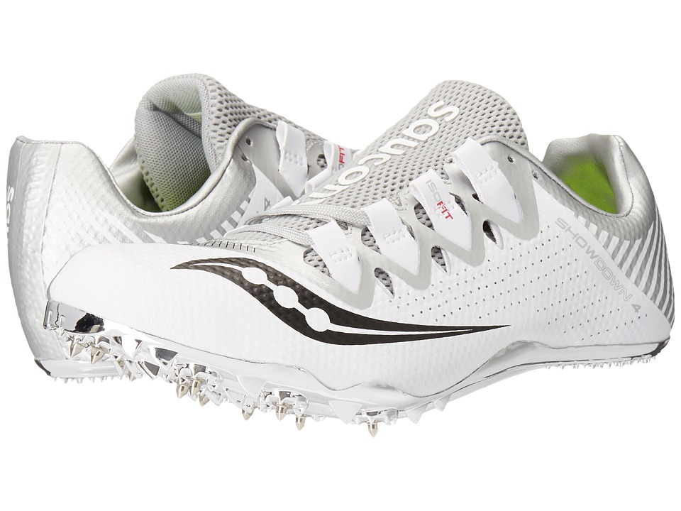 Saucony - Showdown 4 (White/Silver) Women's Shoes