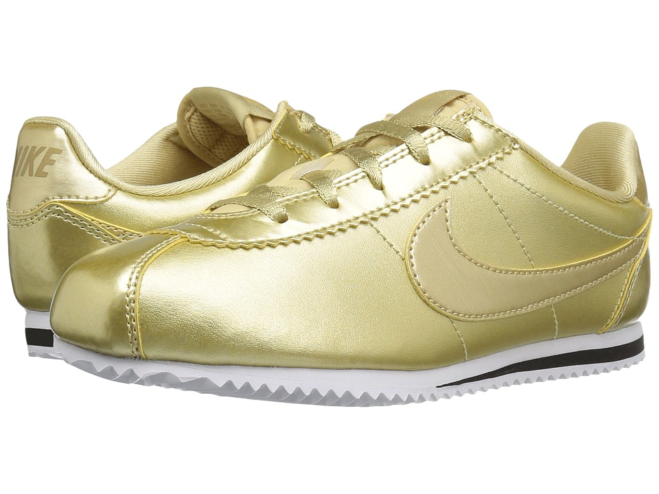 Nike Kids - Cortez SE (Little Kid) (Metallic Gold Star/Metallic Gold/White/Metallic Gold Star) Girls Shoes