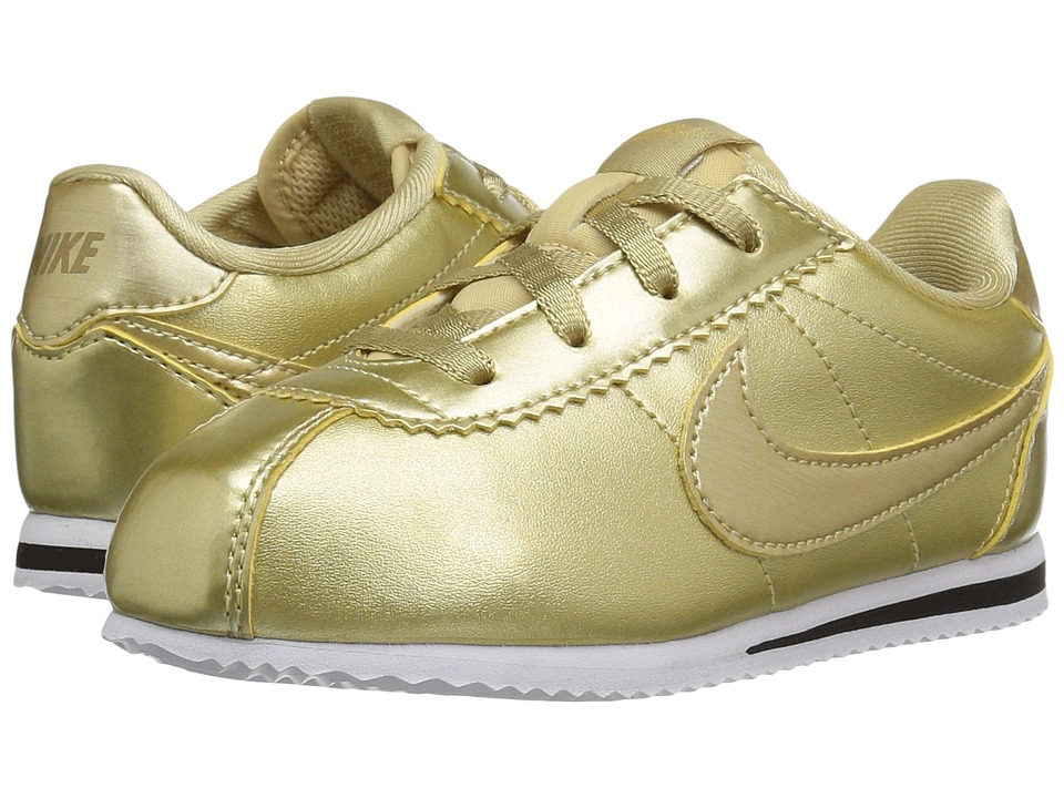 Nike Kids - Cortez SE (Infant/Toddler) (Metallic Gold Star/Metallic Gold/Metallic Gold Star) Girls Shoes