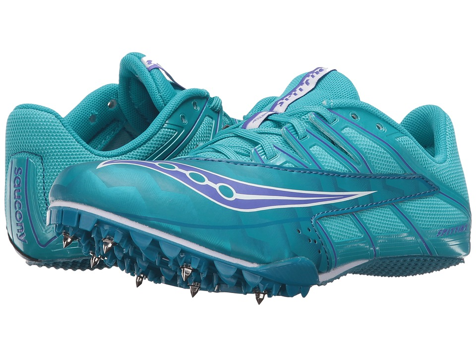 Saucony - Spitfire 4 (Teal/Blue) Women's Running Shoes