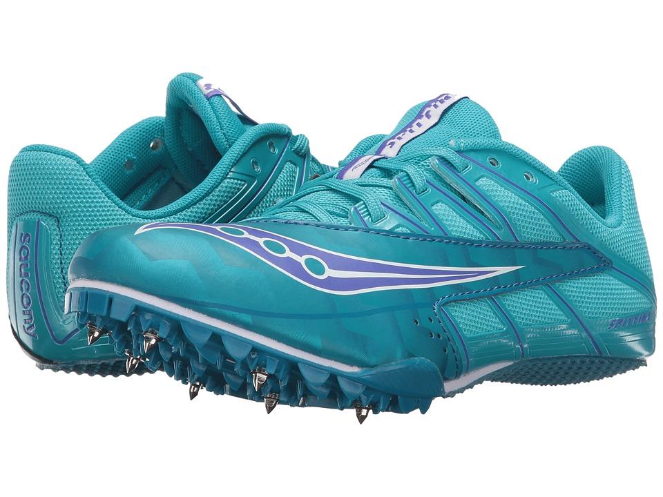 Saucony - Spitfire 4 (Teal/Blue) Women's Running Shoes